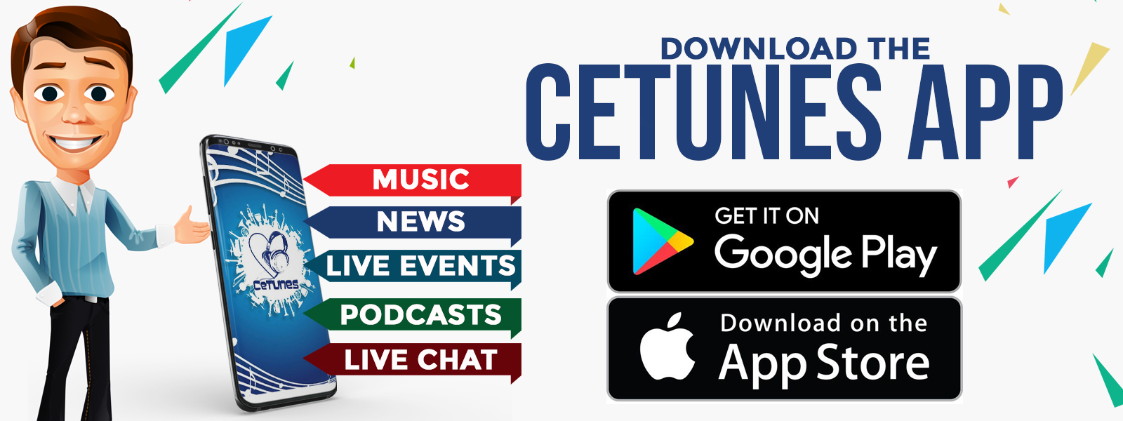 Download the Cetunes Mobile App
