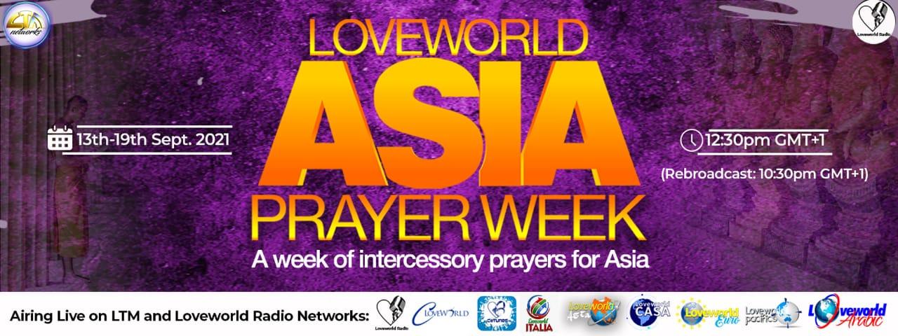 LOVEWORLD ASIA PRAYER WEEK